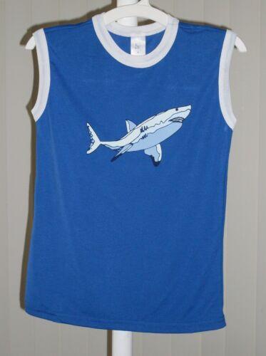 Boys Pajama Top Sleep Top Sleeveless Shark  NWOT 8