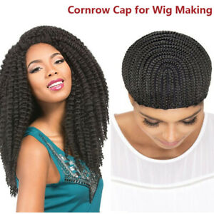 Stretchable Braided Wig Cap For Crochet With Elastic Band And Combs Us Ebay