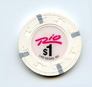 1.00 Chip from the Bellagio Casino in Las Vegas Nevada