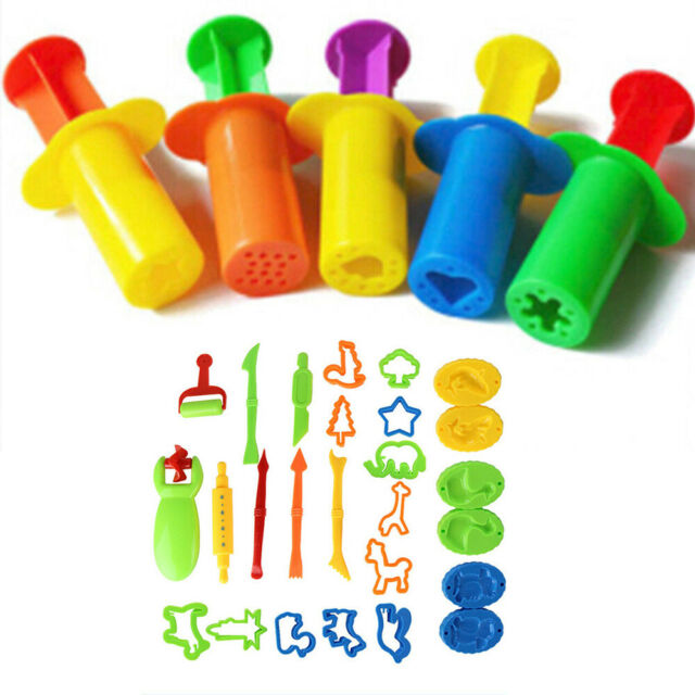 5X Plasticine Craft Tool Clay Extrusion Plastic Mold Set Kids Play Toy STU