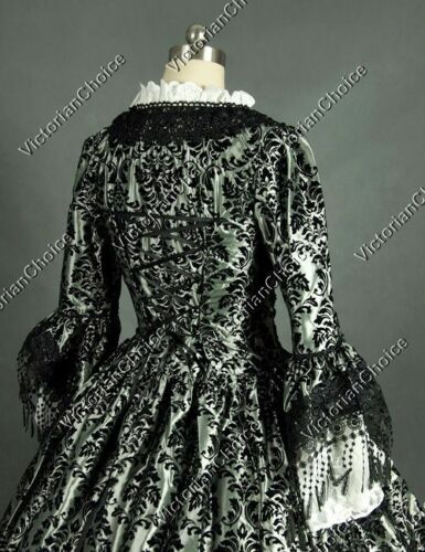 Victorian Renaissance Faire Princess Ball Gown Prom Dress Steampunk Punk 164