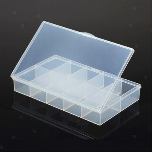 10 Cells Plastic Transparent Electronic Component Boxes Assortment Storage