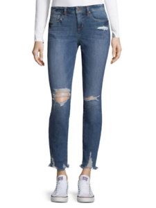 JOE'S JEANS  DESTROYED SKINNY ANKLE JEANS IN SARAH WASH 26 NEW