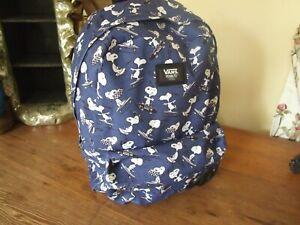 Vans Peanuts Snoopy Backpack rucksack  VGC