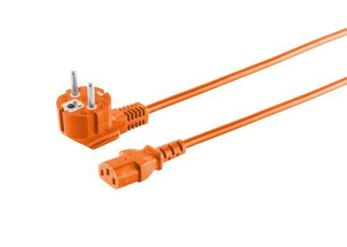 5,0m Schutzkontakt Stromkabel 1,8m Kaltgerätekabel-Euro-Netzkabel 90°- C13