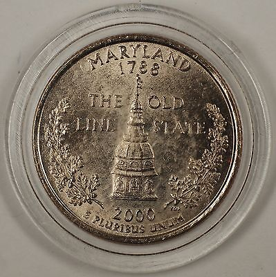 2000 P  Maryland   State Quarter  **BRILLIANT UNCIRCULATED**