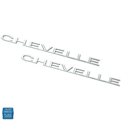 "1964 Chevelle Fender Emblem /""Chevelle/"" Pair"
