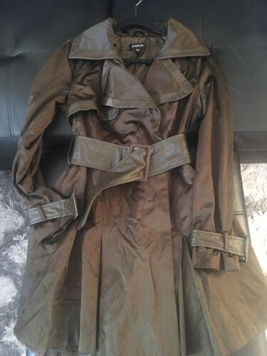 Brown Bebe trench coat medium