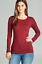 Basic-Long-Sleeve-Solid-Top-Womens-Plain-Cotton-T-Shirt-Stretch-Tight-Crew-Neck thumbnail 20