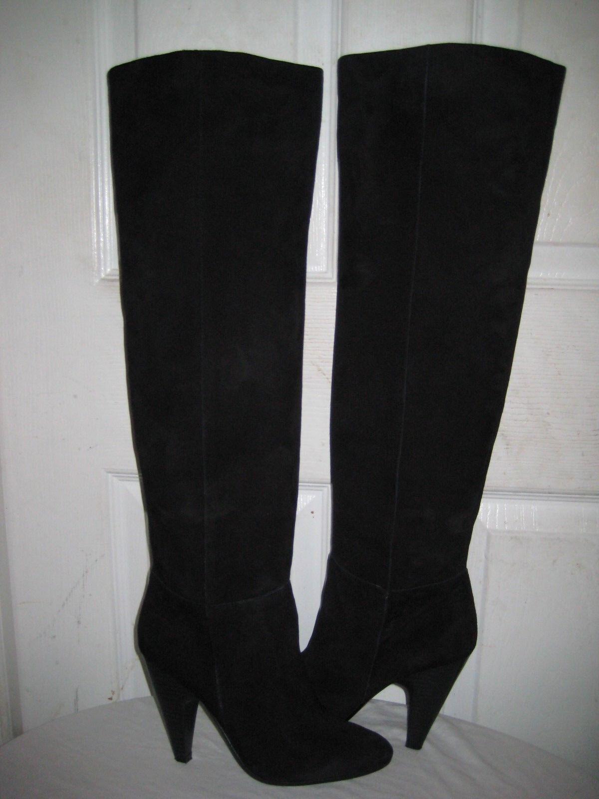 ASH  INTENSE Black Suede Knee High Boots Boots Boots shoes Women's Size 37   6.5 c7a5d1