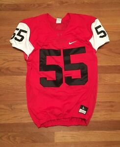 d290c5c8504af0 New Nike Men s L Mach Speed Football Jersey Red   White  55