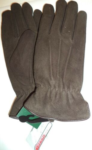 Ladies Thermolite Insulated Deer Suede Leather Driving Gloves,Brown