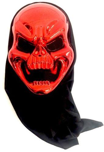 Halloween Masquerade Masks Devil Ghoul Alien High Shine Chrome