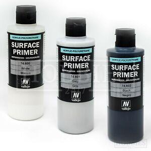 Vallejo-PRIMER-superficie-200ml-Bianco-Grigio-Nero-Acrilico-Model-Air-Brush-Spray