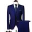 miniature 21 - Mens Suits Sets 3 Pcs Slim Fit Coats Tuxedos Groom Groomsman Formal Work Casual