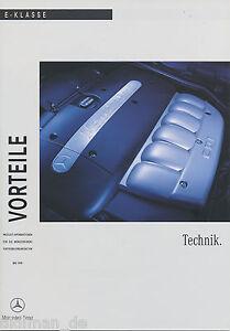 Mercedes-E-Klasse-Vorteile-Technik-5-99-Publikation-1999-brochure-Prospekt-Auto