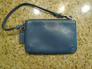 Image Is Loading Coach Wristlet Leatherware Est 1941 Purse Wallet