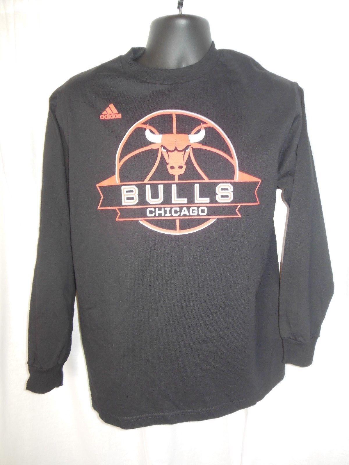Camiseta de manga larga Adidas para hombre de los Chicago Bulls, tamaño medio