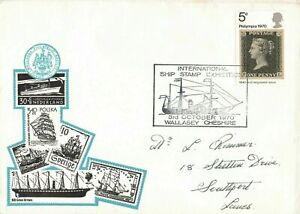 GB1970 Special Commemorative Cover International Ship Stamp Exhibition Wallasey