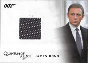 James-Bond-Archives-Costume-Wardrobe-Prop-Relic-Card-QC25-Bond-039-s-Tie