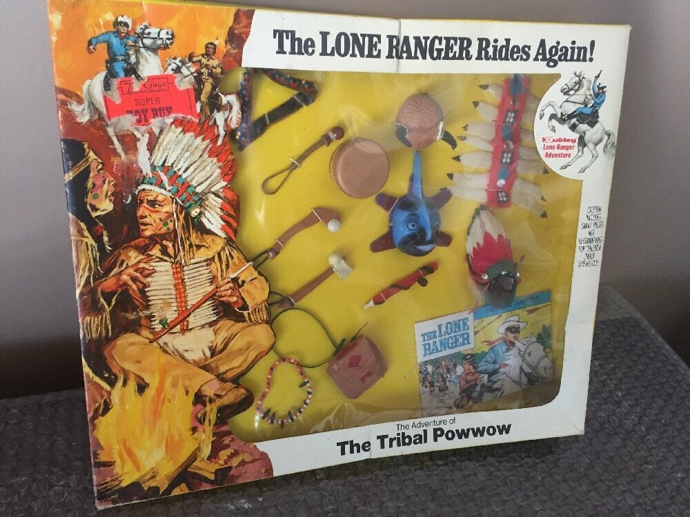 Vtg 1973 MOC Hubley The Lone Ranger Rides Again The Tribal Powwow