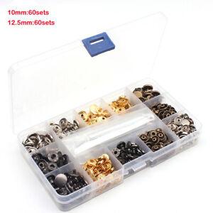 120pcs-Metall-Druckknopf-mit-Fastener-Tool-Druckknopf-Knoepfe-Leder-Nieten-Neu