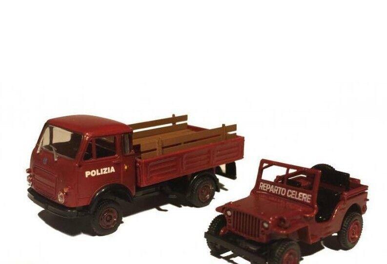 PI.R.A.T.A. by Brekina PIBK34600.D  Lupetto Set polizia celere red    HO 1 87