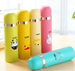 Animal Cartoon Stainless Steel Vacuum Cup Thermos Bottle Cup Travel Mug 8C