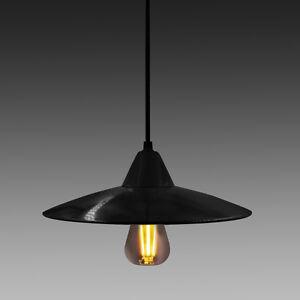 Abat Jour Suspension Noir Metal Lampe Suspension Luminaire Suspendu