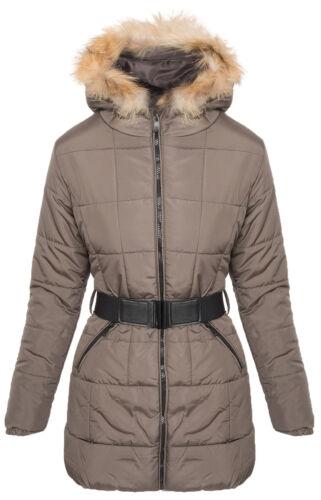 Damen Winter Jacke Steppjacke Parka Mantel Kapuze Winterjacke warm NEU SK-3703