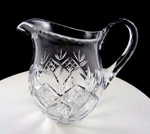BRILLIANT-CUT-CRYSTAL-DIAMOND-BAND-FAN-AND-DIAGONAL-LINES-6-3-8-034-JUICE-PITCHER