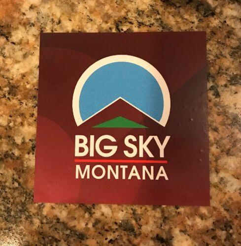 Ski Resort Snowboard Mountain Sports Skiing Burton Big Sky Montana Sticker