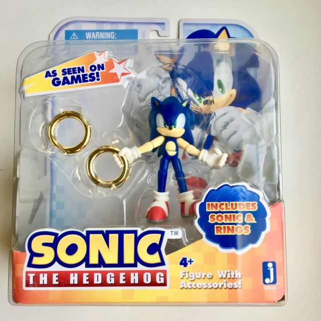 Sonic The Hedgehog Action Figure With Rings For Sale Online Ebay