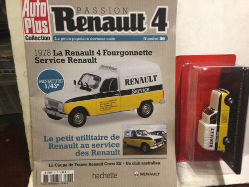 RENAULT 4L N°56  1978 LA RENAULT 4 FOURGONNETTE SERVICE RENAULT