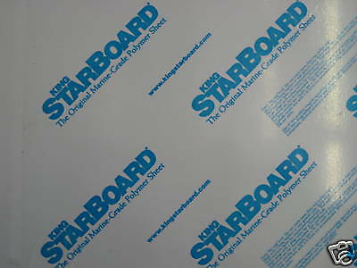 1//4 X 12 X 27  White King Starboard Polymer hdpe Seaboard Cesany Plastics 48 24