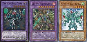 Gladiator-Beast-50-Card-Lot-Prisma-Gyzarus-Heraklinos-NM-Yugioh