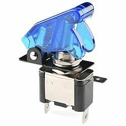 1x BLUE LIGHTED TOGGLE SWITCH TOGGLE 12V  20A ON OFF  Car Truck ATV  Airplane