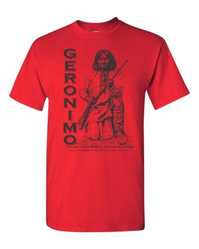 GERONIMO Indien Native American Men/'s tee shirt 1807