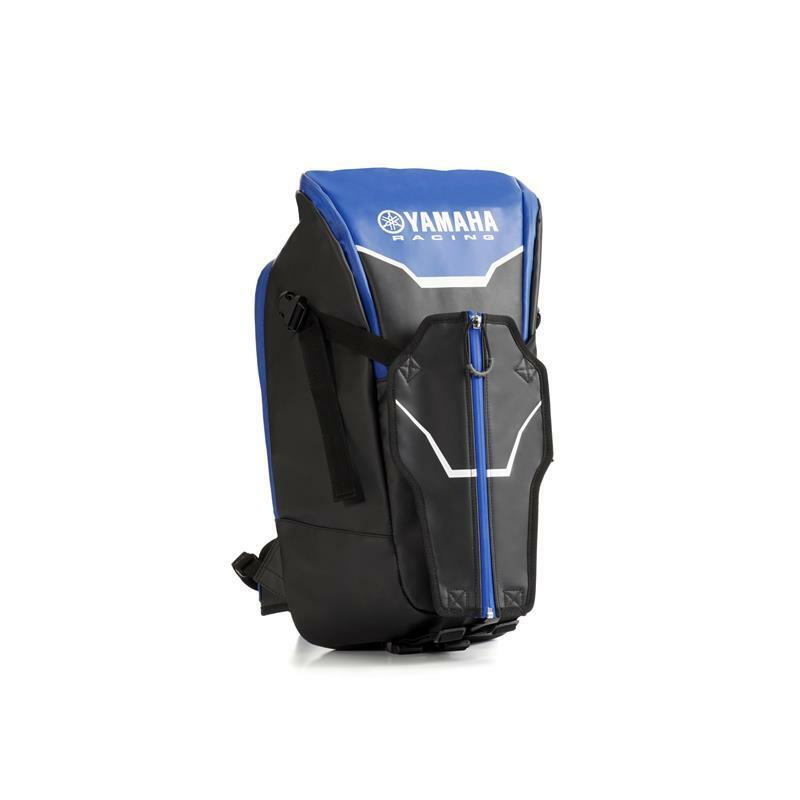 OFFICIAL Yamaha Racing nero & blu Borsa Zaino con porta casco