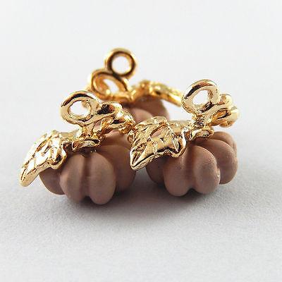 0a5a0781ab7b1 20 Pcs Pink Zinc Alloy Halloween Pumpkin Charms Necklace Pendant Crafts  51911