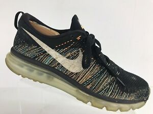 Details about Nike Flyknit Air Max 620469 015 BlackWhiteMulti Color Glow Sneakers Sz 11