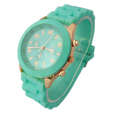 Unisex Womens Mens Geneva Silicone Jelly Gel Quartz Analog Sports Wrist Watches