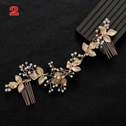 Rhinstone Haarkämme Perle Haarnadeln Wedding Barrettes Haarklammern für Braut