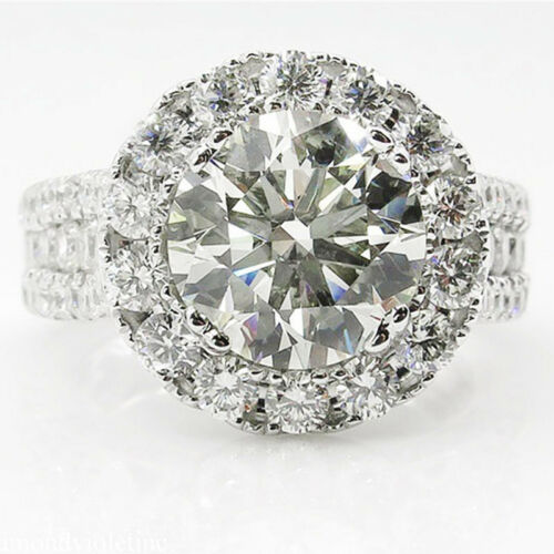 1PC Round Cut Cubic Zirconia Micro Pave Ring Wedding Engagement Band Fashion