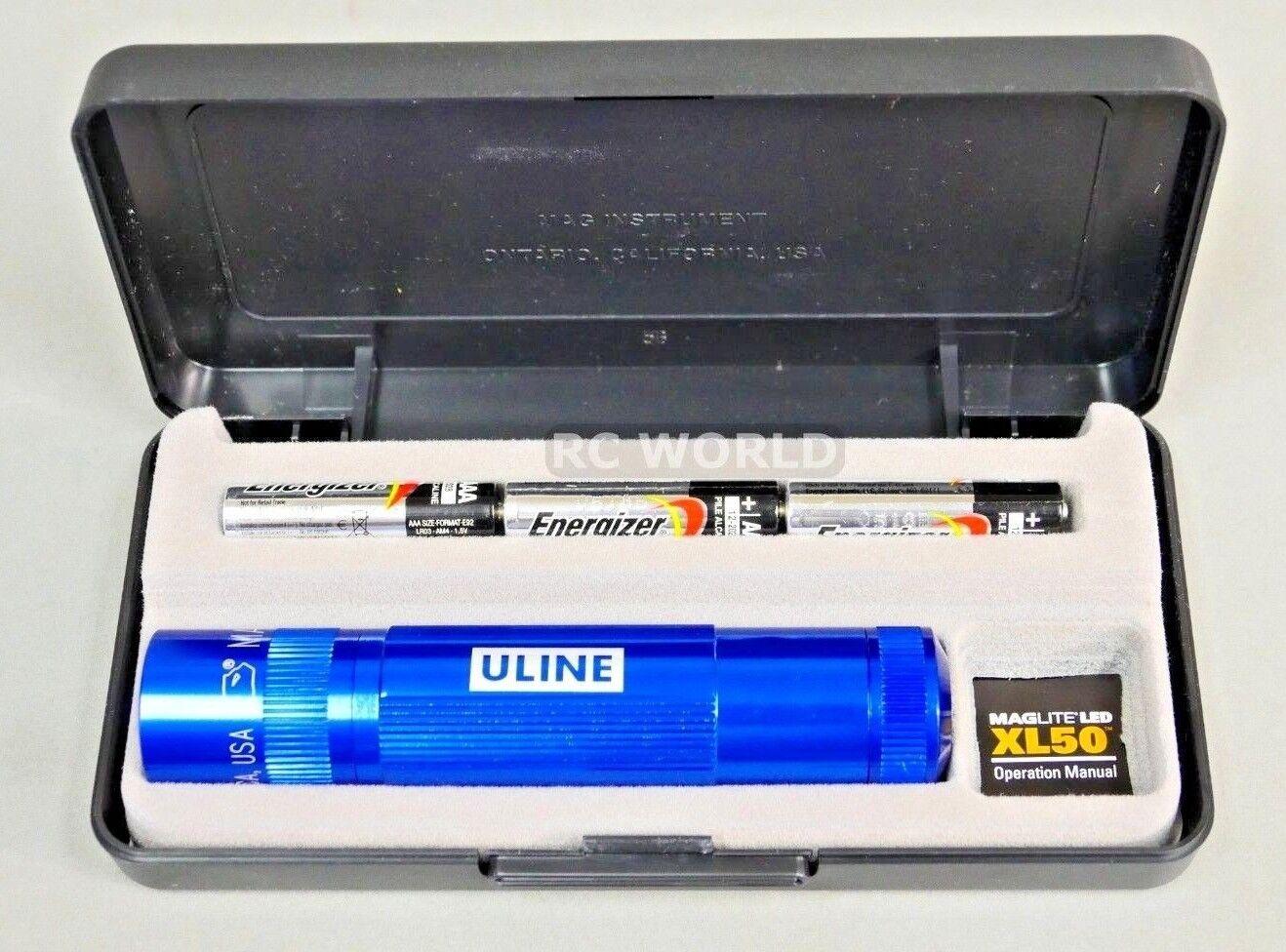 Mini MAGLITE w  CASE LED XL50 L.E.D FLASHLIGHT MAGLIGHT Very Bright  ob3