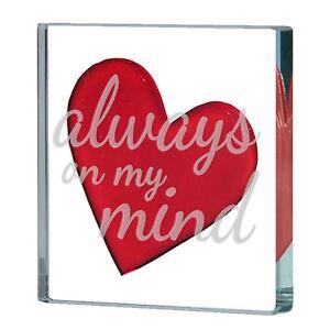 Spaceform Miniature Glass Token Heart Always On My Mind Love