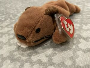 Authentic *Rare* BUCKY the Beaver 3rd/2nd Generation Ty Beanie Baby Babies !!!