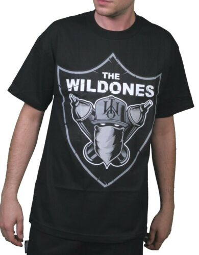 The Wild Ones Wild Nation Graffiti Black or Gray T-Shirt size Small