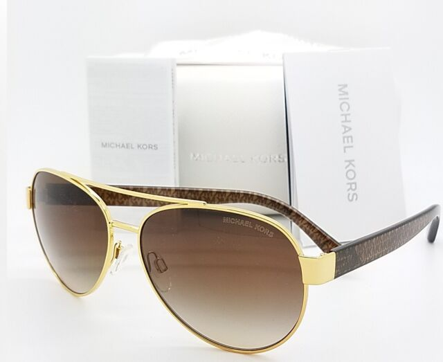 092a51f1e038 Michael Kors MK5015 Astrid III 104413 Gold/brown Gradient Aviator Sunglasses  for sale online   eBay