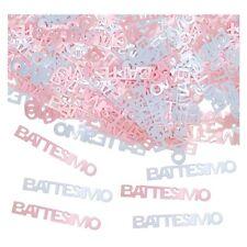 CONFETTI Decorazione TAVOLO BATTESIMO Bimba, 15 g coriandoli rosa, addobbi festa